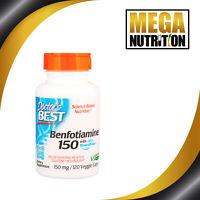 Doctor's Best Benfotiamine BenfoPure 150mg   120 Vegetarian Capsules Vitamin B1