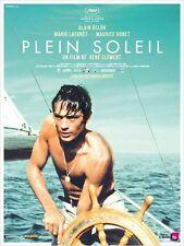 Affiche Pliée 120x160cm PLEIN SOLEIL 1960 Alain Delon, Ronet, Laforêt R2013 TBN#