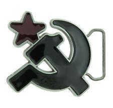 Soviet Union Russia Hammer and Sickle Enamel Metal Belt Buckle