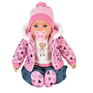 """20"""" Soft Bodied Baby Doll Toy with Sounds - BiBi Doll """"Pinky"""" Neon Pink"""