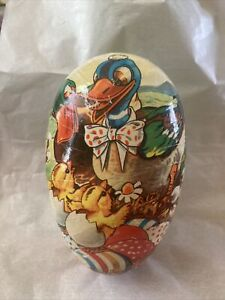 Vintage Western Germany Easter Egg Candy Container Pressed Cardboard Ducks
