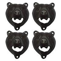 1~10 PCS Grizzly BEAR  Soda Bottle Opener Rustic Cast Iron Wall Mount Bar Decor