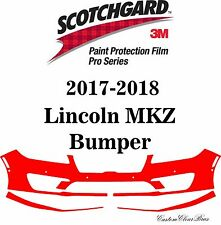 3M Scotchgard Paint Protection Film Pro Series Clear Bra 2017 2018 Lincoln MKZ