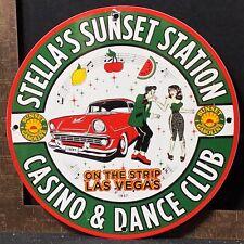 Stella'S Sunset Station Casino Las Vegas Nevada Gas Oil Porcelain Sign Motor Oil