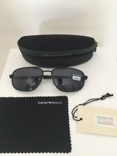 Vintage Emporio Armani Sunglasses EA 068 Aviator Matte Black C. 976 Made Italy