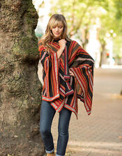 Hand Loomed 100% Alpaca Wool Poncho Cape Wrap Potosi INVISIBLE WORLD