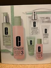 CLINIQUE 3-STEP SKIN CARE SYSTEM FULL SIZE & TRAVEL SET 3 $98 VALUE NEW IN BOX