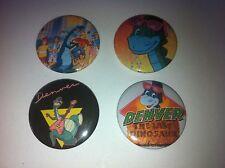 4 Dever The Last Dinosaur button badges 25mm cult retro 80s 90s kids TV