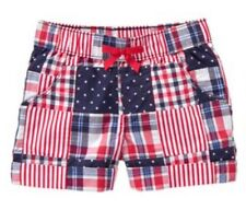 Gymboree Girls Red White & Cute Nwt Patchwork Stripes Star Shorts Midi 3t