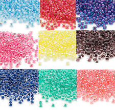 200 Inside Color Matsuno 6/0 Glass Seed Beads Translucent & Rainbow Spacer Beads