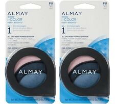 Almay Intense i-Color All Day Wear Powder Eye Shadow, 130 Blues, Lot of 2!