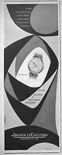 PUBLICITÉ 1954 MONTRE JAEGER LECOULTRE REMONTABLE DÉCLENCHEMENT AUTOMATIQUE