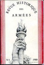 REVUE HISTORIQUE DE L'ARMEE N°1 1980