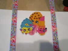 Iron on embroidered applique- Shopkins iron on faux suspenders and applique