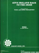 WINGS GIVE IRELAND BACK TO THE IRISH SHEET MUSIC-PIANO/V/GUITAR-McCARTNEY-1972