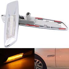 LED Chrome Side Marker Fender Signal Lights For BMW 3 Series E90 E91 E92 E93