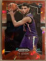 Ty Jerome 2019-20 Prizm Basketball Cracked Red Ice RC Rookie NBA Suns No. #268