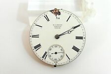 c1850-70 E.J.DENT LONDON 3/4 PLATE FUSEE POCKET WATCH MOVEMENT.WITH DIAL & HANDS
