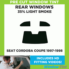 Pre Cut Window Tint - SEAT Cordoba Coupe 1997-1998 - 35% Light Rear