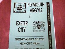 93/94  PLYMOUTH ARGYLE V EXETER CITY[DEVON BOWL [3/8/93]