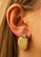 Wunderschöne Ohrringe, Earrings, Bernstein, WEISS  Silber 925, NEU UNIKAT *