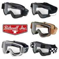 Biltwell Moto 2 Motorcycle Vintage Retro Cafe Racer Riding Goggles - All Colours