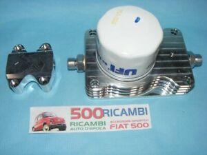 FIAT 500 F/L/R 126 KIT MODIFICA RAFFREDDAMENTO OLIO MOTORE MINI RADIATORE+TAPPO