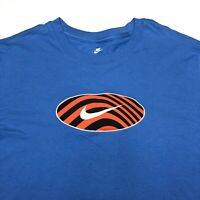 Nike The Nike Tee Mens L Large Blue Standard Fit Swoosh Logo Embroidered NWT