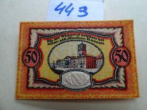 NOTGELD GERMANY 50 pfennig - KARLSRUBE -  AU/UNC