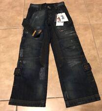 Dolce & Gabanna D&G Juniors Blue Denim Jeans Pants NEW w/ Tag size 6