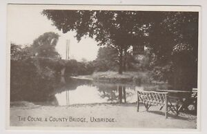 London Carte Postale - The Colne & Comté Pont, Uxbridge (A382)