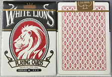 RARE White Lions Series A Red Rainbow Playing Cards~David Blaine~Free Shipping