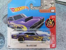 Hot Wheels 2017 #160/365 1968 DODGE DART violet HW chaud Camions