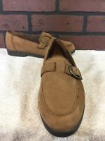 Dr Scholls Women Brown Loafer Shoe Size 6M Casual Work Buckle Leather