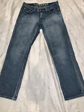 Flypaper Size 30x30 Straight Distressed Trashed Holes Light Denim Wash Jeans (10