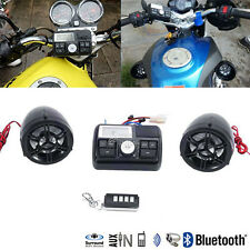 Bluetooth Motorcycle Handlebar Audio Amplifier Stereo Speaker System MP3 Harley