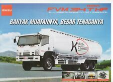 Isuzu Giga FVM 34 THP truck (made in Indonesia) _2018 Prospekt / Brochure