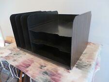 Vintage Metal Vertical Horizontal File Organizer Sorter Desktop Paper Storage