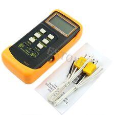 Dual 2 Probe Sensor K-Type Digital Thermometer Thermocouple 1300°C 2372°F