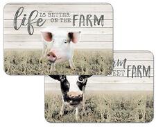 Farm Life Cow & Pig Decofoam Reversible Placemat Set ~ Set/4