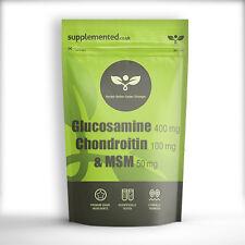"""Glucosamina Condroitina Msm 400/100/50 Pastillas �œ""""Fabricado en Gb �œ"""" Buzón"""