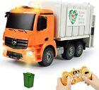 Remote Control Garbage Recycling Trash Bin Truck R/C Vehicle Toy Boy Gift Lights