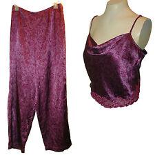 2-PC PJ's Pajamas: Cami & bottoms, Victoria's Secret, Purple Lace, M
