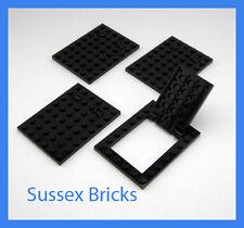 Lego - 4x Black Trapdoor 92099 92107 Castle City Star Wars Space New Pieces