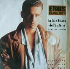 """7"""" 1987! EROS RAMAZZOTTI La Luce Buona Delle Stelle M-?"""