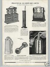 1936 PAPER AD Soda King Rechargeable Syphon Chrome Chromium Dumb Bell Shaker