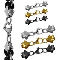 Kettenverschluss Karabiner Öse flache Halskette Kette Armband DIY Verschluss