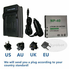 Battery + Charger for HP V556AU V5560AU V5560U V5060H V5061U CANP-40 CA NP-40