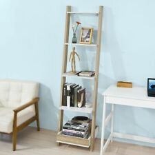 Ladder Shelf Wall Shelf Bookcase Storage Display Shelving Unit with 4 Shelves an