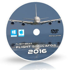 Flugsimulator 2016.2.1 X Flight Sim Flugzeug & Helikopter Windows 10 8 7 PC DVD